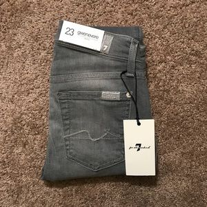 NWT [7 for all Mankind] Gwenevere Grey Size 23
